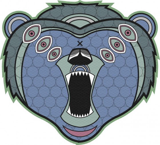 Snowboard design, grizzly drawing