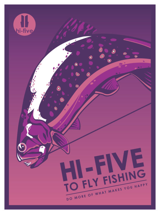 travel poster, fly fishing poster, fly fishing logo, graphic designer colorado springs, illustrator colorado springs