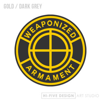 graphic design colorado springs, web design colorado springs, illustrator colorado springs, artist colorado springs, business cards colorado springs, weapon logo, gun logo, armament logo