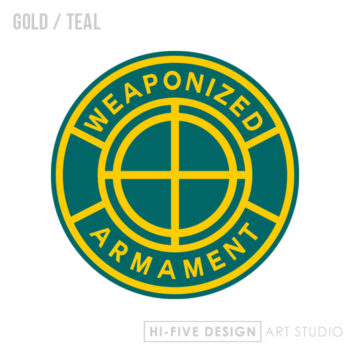 graphic design colorado springs, web design colorado springs, illustrator colorado springs, artist colorado springs, business cards colorado springs, weapon logo, gun logo, armament logo