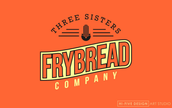 frybread logo, southwestern logo, warm logo, logo design colorado springs, designer colorado springs