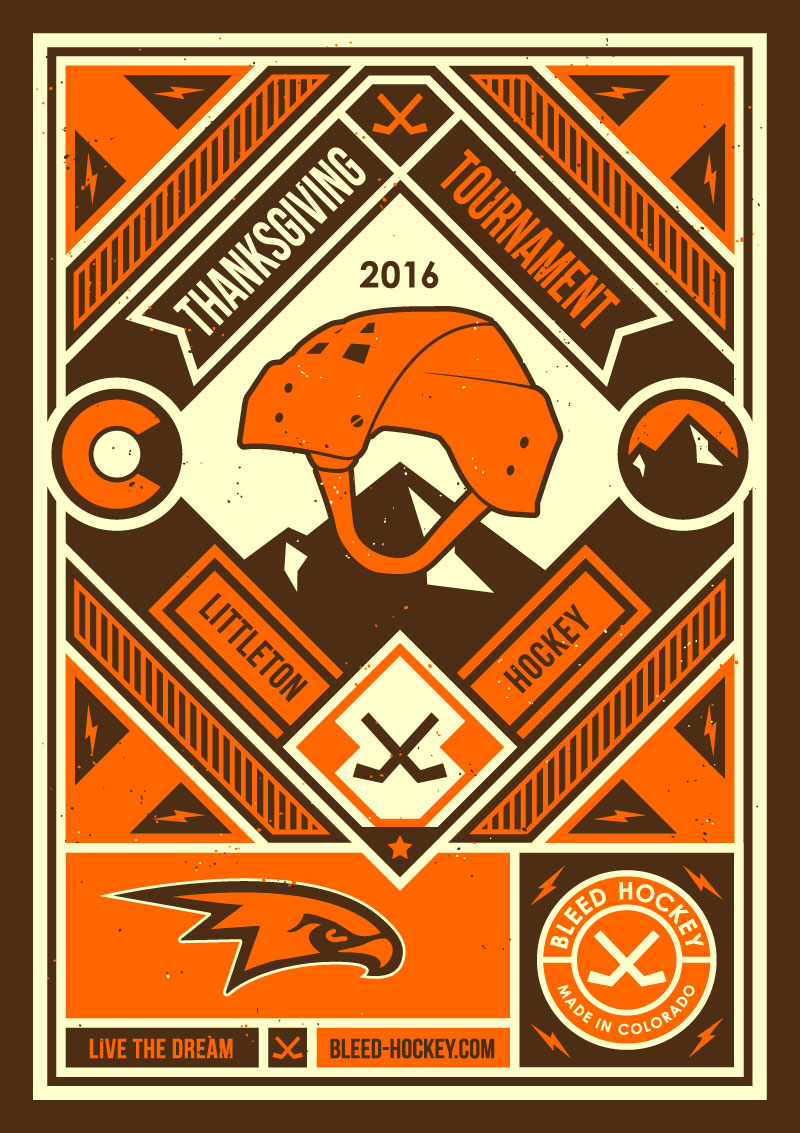 logo design colorado springs, graphic designer colorado springs, colorado logo, colorado design, hockey logo, hockey poster, hockey designer, hockey apparel design, hockey shirt design
