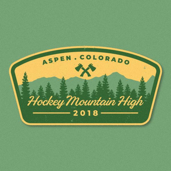 2018 Aspen Hockey Tournament Logo Hi Five Design