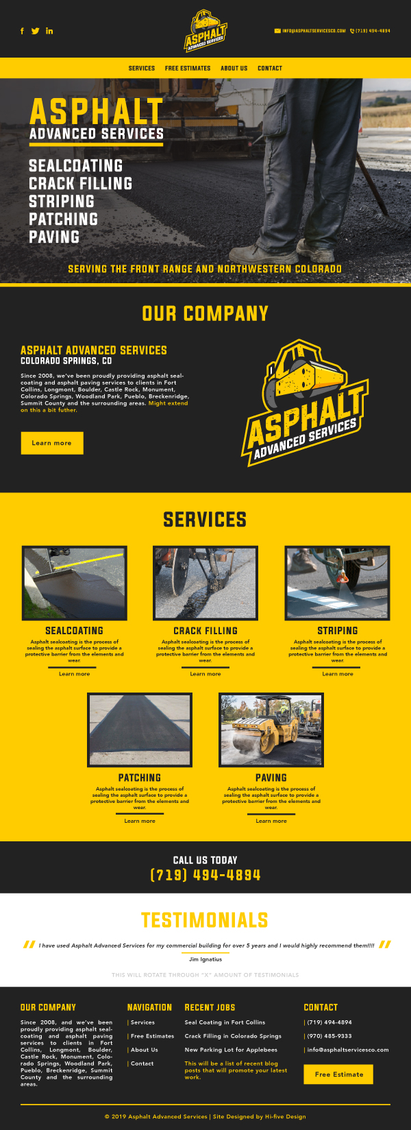 website design colorado springs, website design denver, website design pueblo, website builder colorado springs, website builder denver, website builder pueblo, asphalt website design, asphalt website, concrete website design, concrete website, construction website design, construction website builder