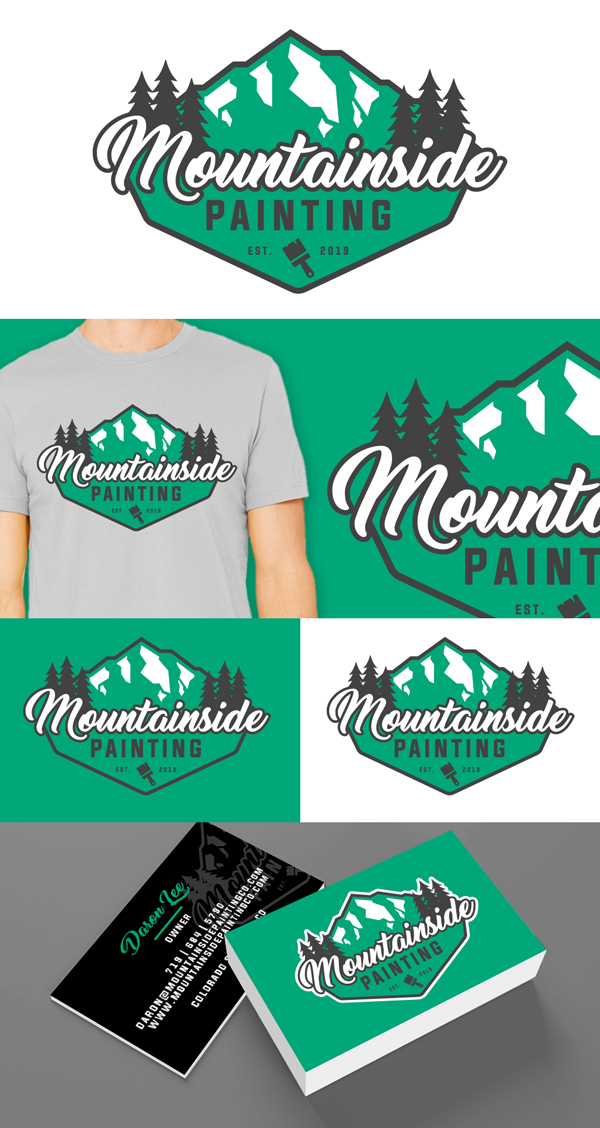 illustrator colorado springs, illustrator denver, artist colorado springs, artist denver, designer colorado springs, designer denver, house logo, paint logo, house painting logo, painting logo, painting logo design, paint brush logo, mountain logo design, mountain logo