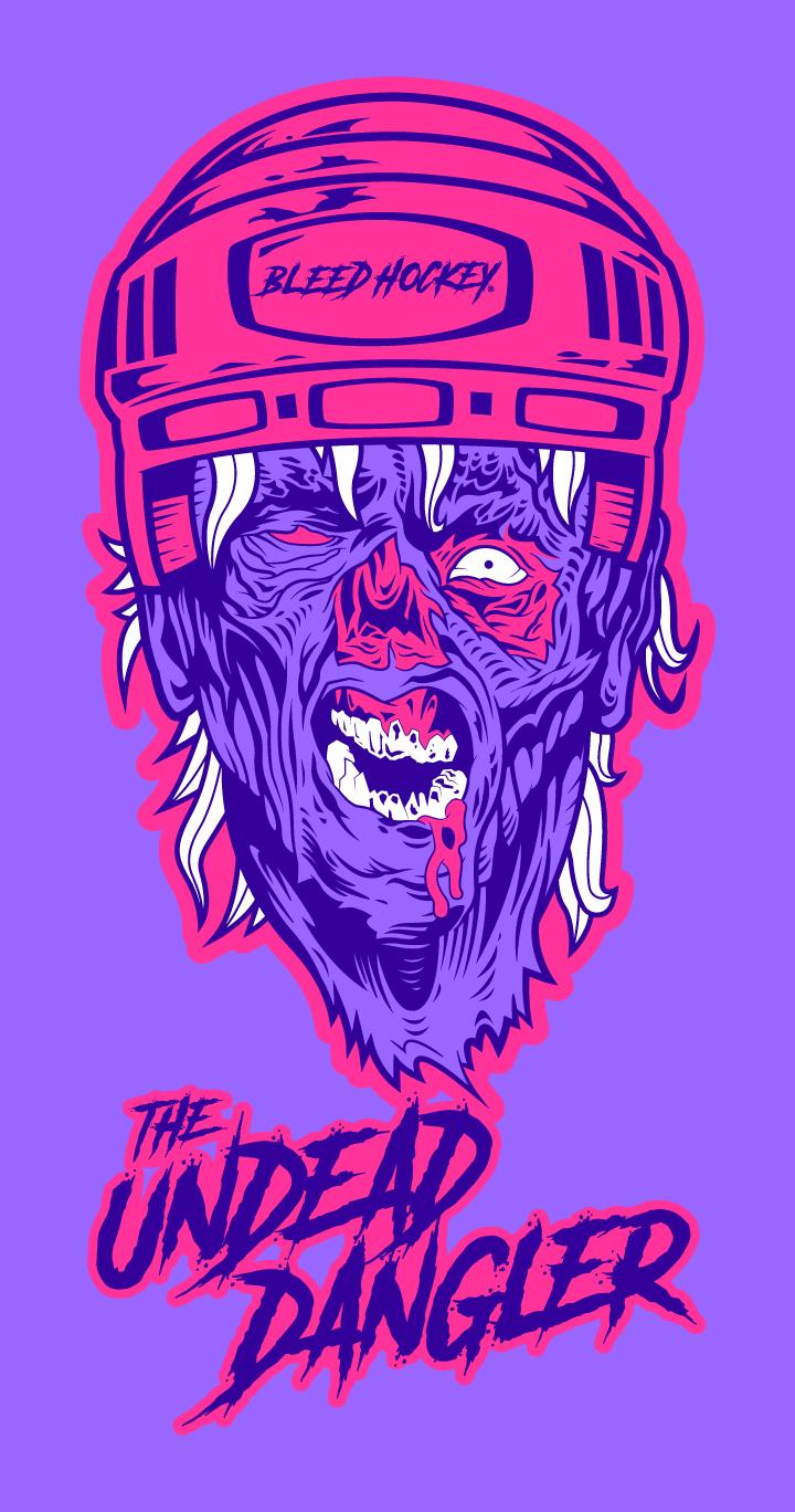 illustrator colorado springs, illustrator denver, artist colorado springs, artist denver, designer colorado springs, designer denver, zombie illustration, zombie drawing, hockey zombie, hockey illustration