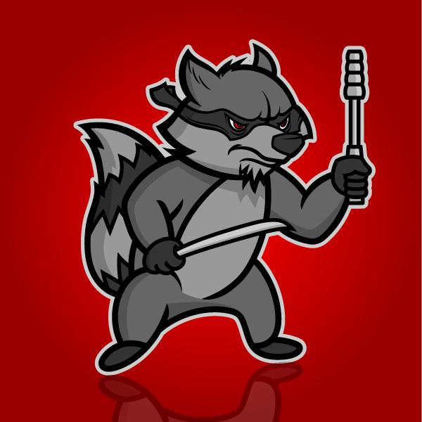 hi-five design, hi-five design colorado springs, illustrator colorado springs, illustrator denver, cartoonist colorado springs, cartoonist denver, raccoon illustration, raccoon drawing, raccoon cartoon