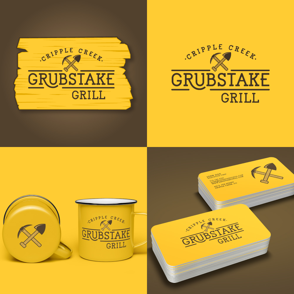 hi-five design, grill logo design, restaurant logo design, hamburger logo design, bar and grill logo design