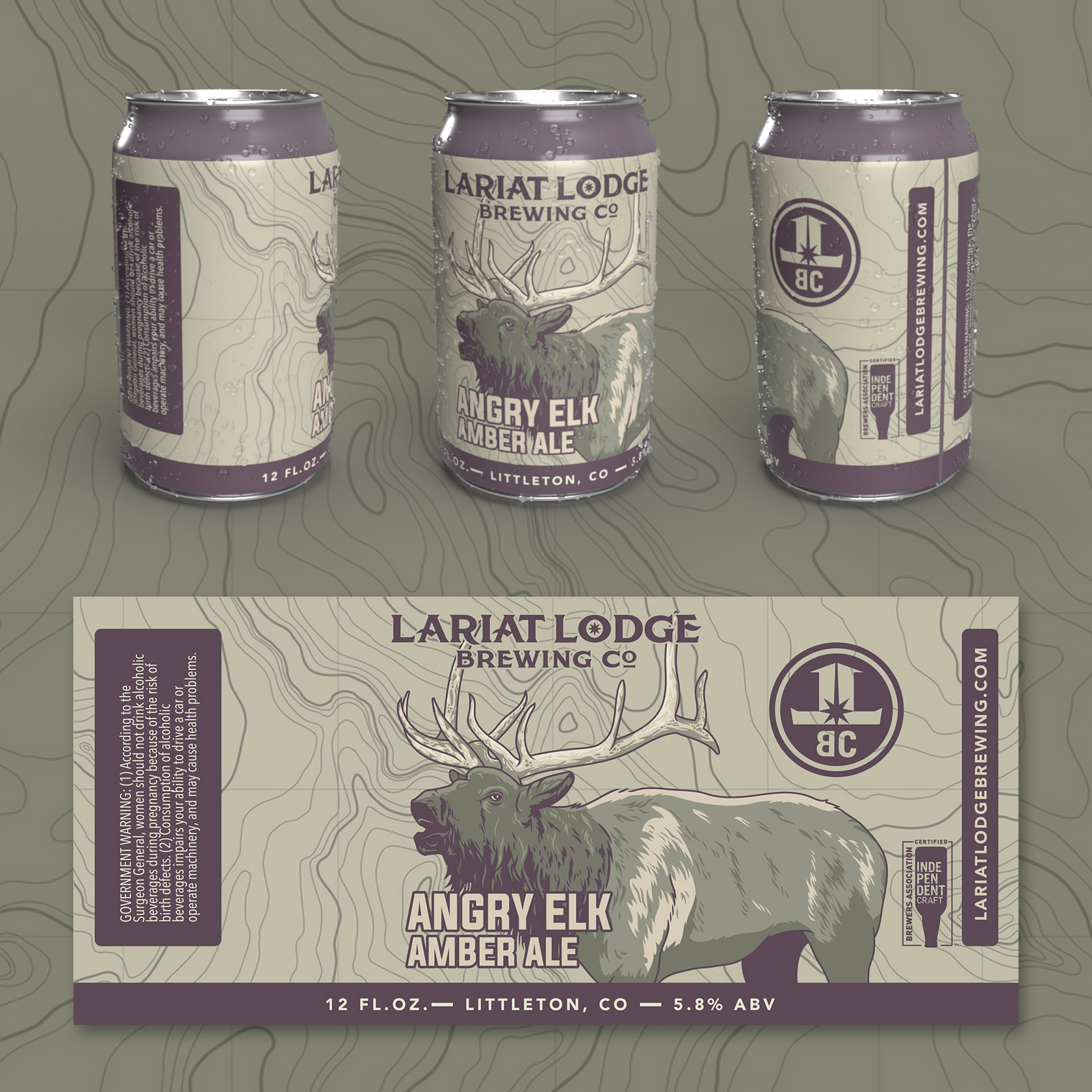 amber ale beer label design, beer label design, colorado beer label, colorado beer, colorado microbeer, amber beer label, beer label design, beer can label design, hi-five design