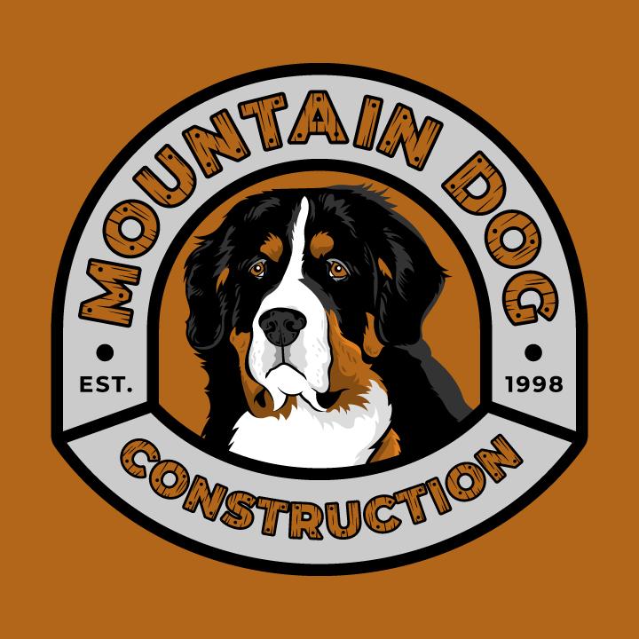 bernese mountain dog, bernese mountain dog logo, bernese logo, st bernard logo design, st bernard logo, dog logo, hi-five design