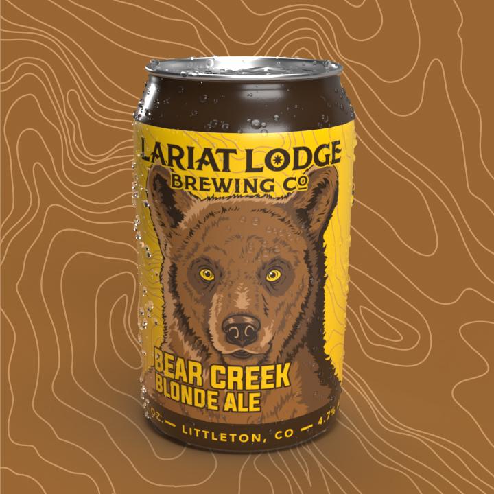 blonde ale beer label design, beer label design, colorado beer label, colorado beer, colorado microbeer, amber beer label, beer label design, beer can label design, hi-five design