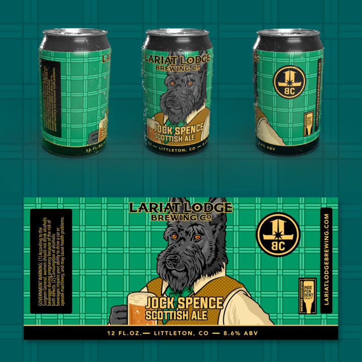 scottish ale beer label design, beer label design, colorado beer label, colorado beer, colorado microbeer, amber beer label, beer label design, beer can label design, hi-five design