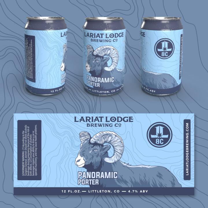 porter beer label design, beer label design, colorado beer label, colorado beer, colorado microbeer, amber beer label, beer label design, beer can label design, hi-five design