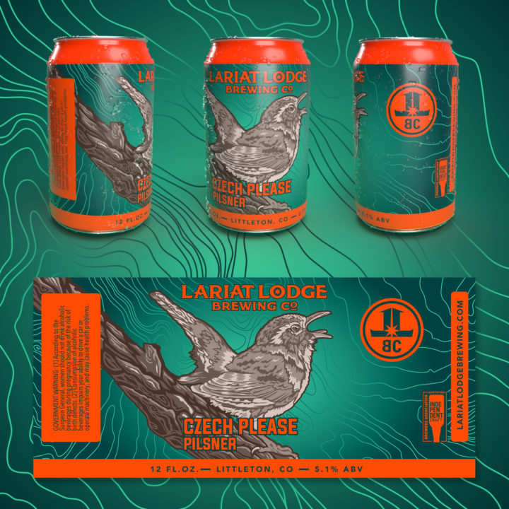 pilsner beer label design, indian pale ale beer label design, colorado beer label, colorado beer, colorado microbeer, amber beer label, beer label design, beer can label design, hi-five design