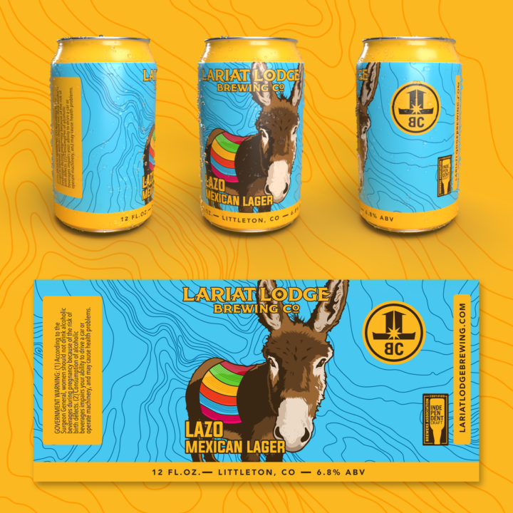 mexian lager beer label design, indian pale ale beer label design, colorado beer label, colorado beer, colorado microbeer, amber beer label, beer label design, beer can label design, hi-five design