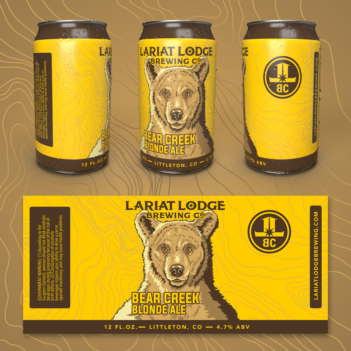 blonde ale beer label design, beer label design, colorado beer label, colorado beer, colorado microbeer, amber beer label, beer label design, beer can label design, hi-five design