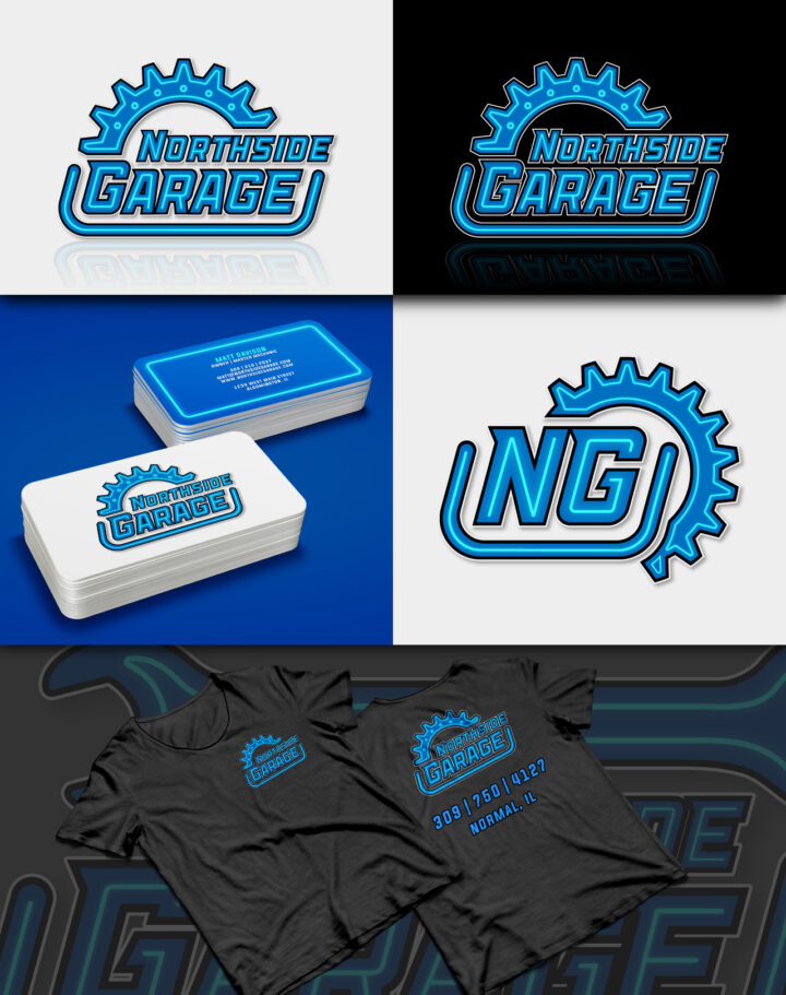 mechanic logo design, wrench logo design, hammer logo, tool logo design, socket logo design, garage logo design, car logo, automotive logo, hi-five design colorado springs, hi-five design, engine logo
