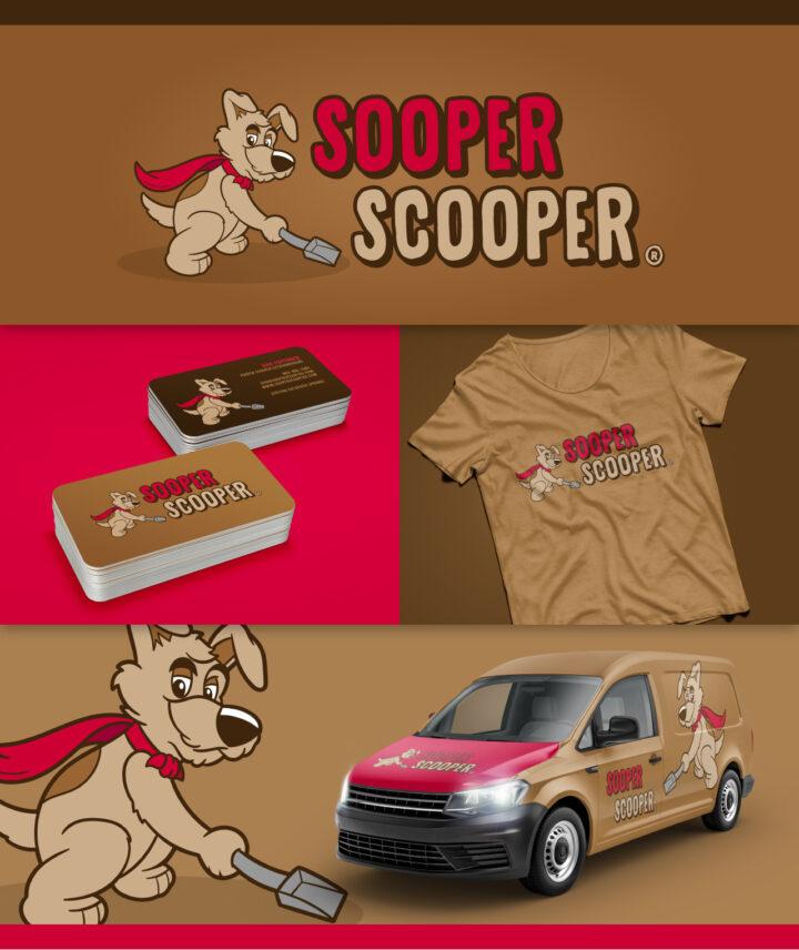 dog logo design, dog cartoon, super dog cartoon, dog poop logo, poop scoop logo, hi-five design, hi-five design colorado springs