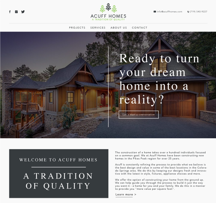 home builder website design, web designer colorado springs, best web designer colorado springs, #1 web designer colorado springs, house builder website design, hi-five design