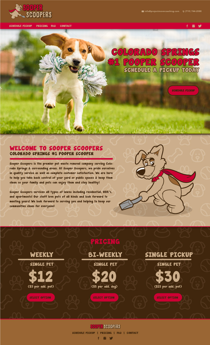 pet website design, dog website design, animal website design, vet website design, hi-five design colorado springs, web designer colorado springs, web designer denver