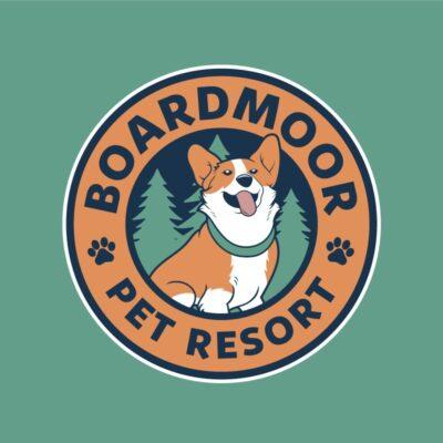 dog boarding logo design, dog boarding, dog pound logo, dog logo, irish wolfhound logo, pet logo, dog logo colorado, hi-five design colorado springs, graphic designer colorado springs, corgy design, corgy logo, corgy logo design, corgy dog logo, corgy illustration