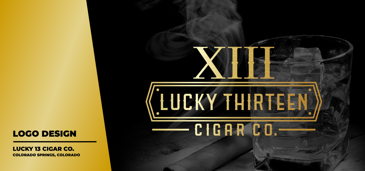 cigar logo design, cigar design, cigar label, cigar branding design, cigarette logo, lucky logo, hi-five design, graphic designer colorado springs