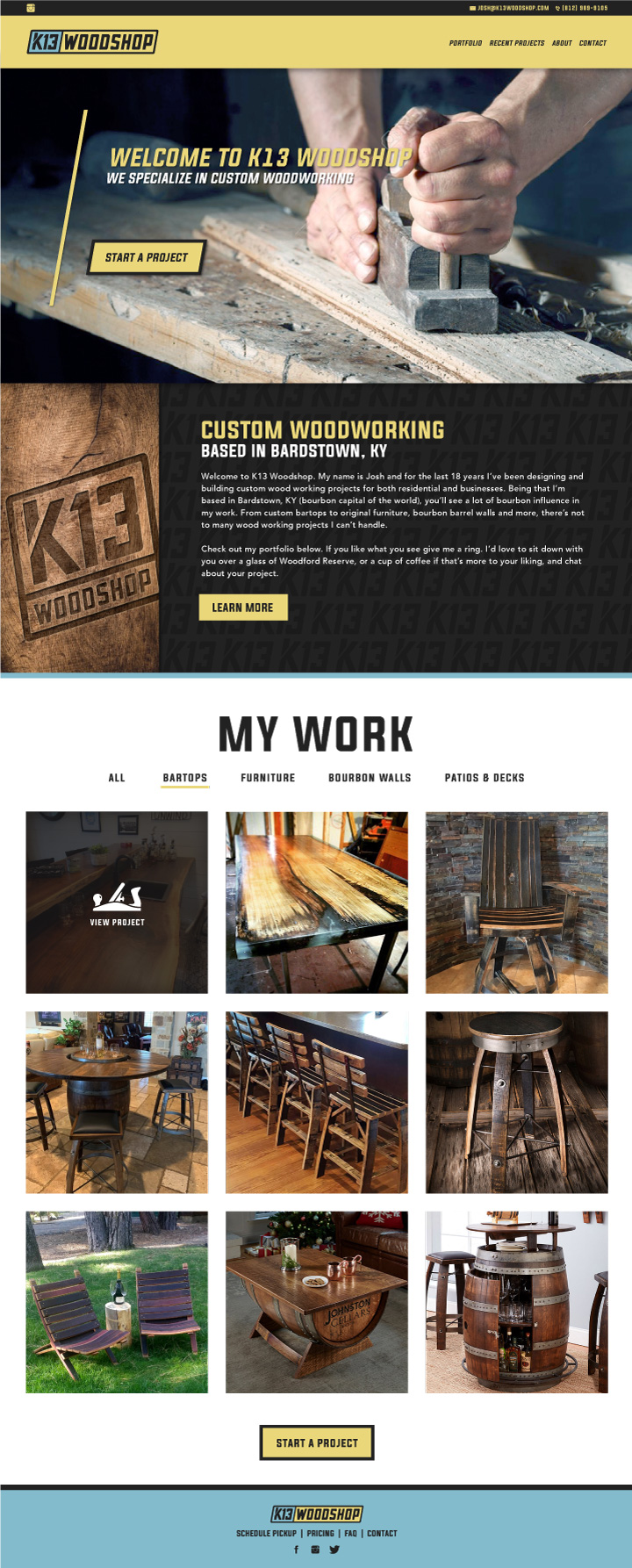 website designer colorado springs, web developer colorado springs, website colorado springs, woodworking website, wood website, wood shop website, hi-five design