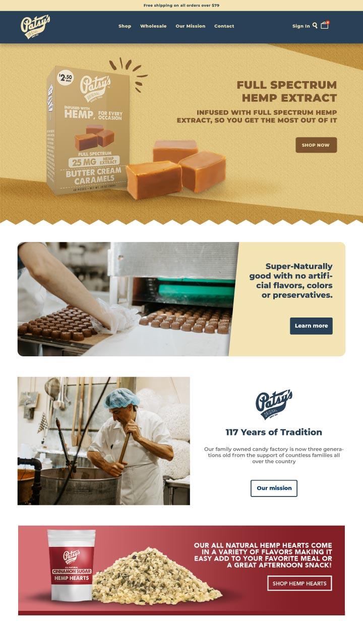 candy website, candy store website design, chocolate bar website design, bakery website design, hi-five design, website designer colorado springs, best web designer colorado springs, web developer colorado springs