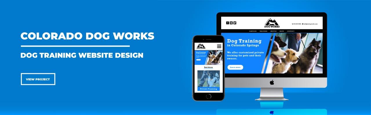 hi-five design, hi-five design colorado springs, website design colorado springs, website design denver, website designer colorado, dog website, dog training website design