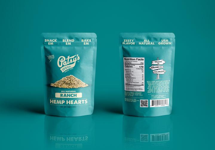 hi-five design, hi-five design colorado, thc chocolates, cannabis packaging design, marijuana packaging design, hemp heart packaging, gusset bag design, organic packaging