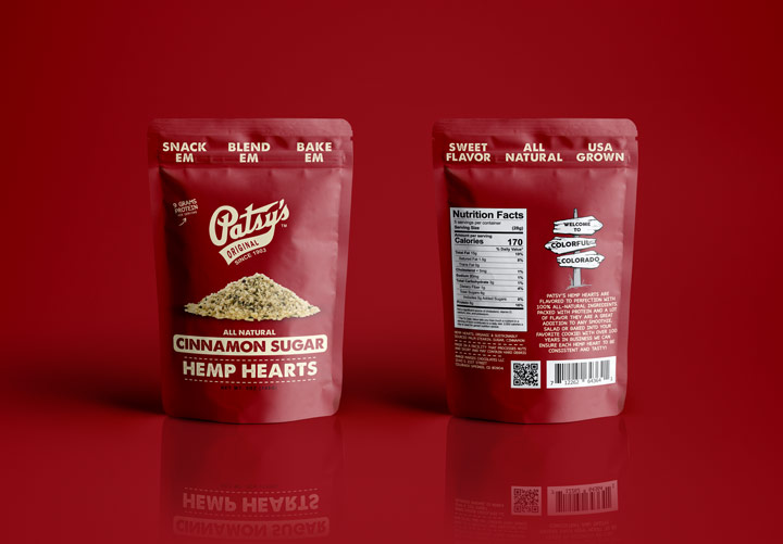 hi-five design, hi-five design colorado, thc chocolates, cannabis packaging design, marijuana packaging design, hemp heart packaging, gusset bag design, organic packaging