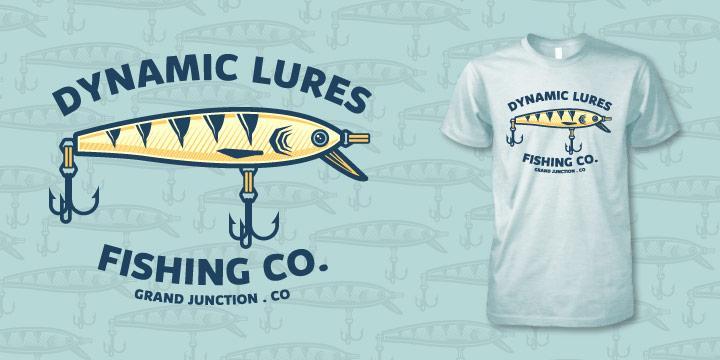 fishing t-shirt, fishing lure t-shirt, fly fishing t-shirt design, hi-five design